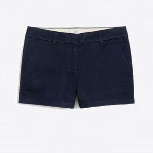 J. Crew Chino cotton blue shorts size 2 3 inch